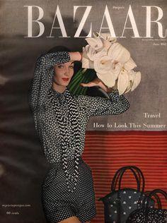Evelyn Tripp on the cover of Harper's Bazaar, June 1952.