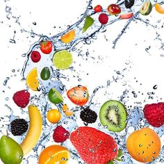 Cortesi Home Fruit Splash II Tempered Glass Wall Art, x Fruit Water, Fresh Fruit, Fruit Juice, Diet Water, Citrus Fruits, Colorful Fruit, Tropical Fruits, Home Wall Art, Wall Art Decor