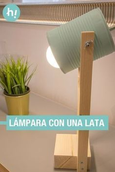 Homemade lamp with a can of canning - Living Comedor estar - Lamp with a can ➜ Recycle a can of canning and transform it into a super-original home table lamp - Homemade Lamps, Homemade Tables, Diy Recycle, Recycling, Home Design, Recycled Decor, Tin Can Crafts, Rustic Lamps, Outdoor Light Fixtures