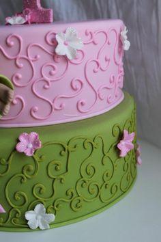 #pink/green cake