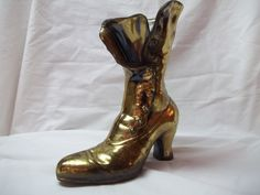 Vintage Brass Victorian Ladies Button Up Boot  via Etsy.