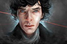 Splendid Sherlock portrait.
