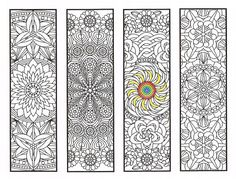 Coloriage de signets - Flower Mandalas Page 2 - Coloriages pour adultes, grands…