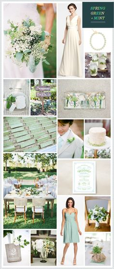 Spring Green + Mint Wedding #Mint #Wedding Inspiration ♥ How to organise your dream wedding, within your budget ♥ https://itunes.apple.com/us/app/the-gold-wedding-planner/id498112599?ls=1=8 Wedding App for brides, grooms, parents & planners … #mint #wedding #ideas #ceremony #reception #flowers #bouquets #cake #rings … For more wedding ideas http://pinterest.com/groomsandbrides/boards/