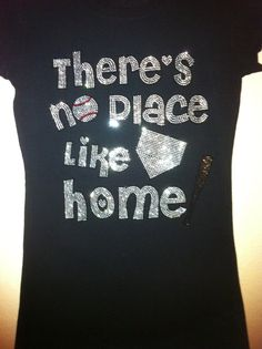 Baseball Rhinestone Bling Shirt Sizes Kids Small to Adult XL Regular or Fitted Cut