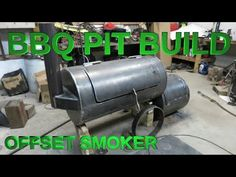 offset smoker build bbq pit, cook chamber is long, firebox is wheels are but i keep em clean! Diy Smoker, Bbq Pit Smoker, Bbq Grill Diy, Grilling, Bbq Firebox, Custom Bbq Smokers, Bbq Guys, Fire Pit Cooking, Offset Smoker