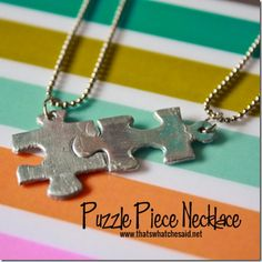 Make Puzzle Piece Necklaces - DIY BFF necklace