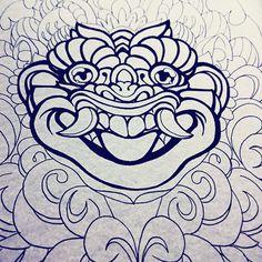#barong #wip #inks #tattoo #illustration #bali #mask Barong, Tattoo Illustration, S Tattoo, Ink Art, Tattoo Inspiration, Devil, Bali, Tattoo Ideas, Japanese