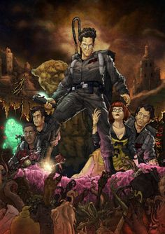 'Ghostbusters' meets 'Army of Darkness' Poster Art by T-RexJones Paranormal, Star Trek, Comic Art, Comic Books, The Real Ghostbusters, Original Ghostbusters, Bros, Ghost Busters, Comics