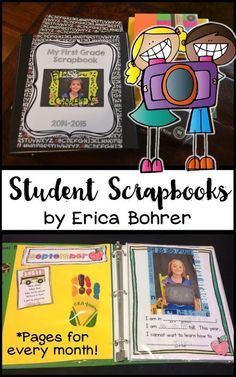 Student Scrapbooks - A year long packet to document student growth.  This becomes a treasured keepsake of parents and a great end of the year gift.