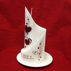Candle & Rings - Hochzeitskerzen Yin Yang 2 Herzen