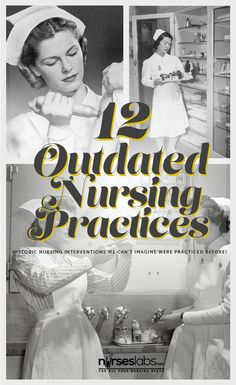 12 Outdated Nursing Practices - Nurseslabs Let's hop in a time machine and travel back in time and learn about the practices we don't do (hopefully for good) anymore. Nursing School Tips, Nursing Tips, Nursing Notes, Operating Room Humor, Nursing In Canada, History Of Nursing, Medical History, Nurse Jokes, Funny Nurse Quotes