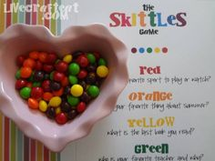 Skittles ice breaker games for youth. From livecrafteat.com.