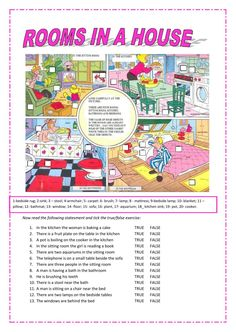 Rooms in the house interactive and downloadable worksheet. You can do the exercises online or download the worksheet as pdf.
