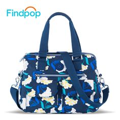 Findpop New Women Messenger Bags Handbags Women Famous Brands Flowers Canvas Bags Bolsa Feminina 2017 Waterproof Nylon Tote Bags