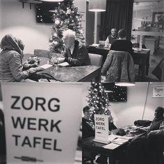 Zorgwerktafel en Coachtafel. In kerstsfeer met Maaike Koorn van Mykeytowork.nl , Stanley Kolader en Nico Rückert