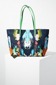 Bea Valdes Expressionist Painted Tote Bag