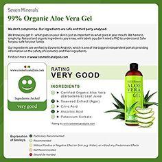Aloe Vera GEL - 99% biologisch - 355 ml - KEIN XANTHAN, zieht schnell ein, keine Rückstände - Made in USA - ERGEBNISSE ERZIELEN ODER GELD ZURÜCK - Einzigartige Formel mit natürlichen ALGEN. Feuchtigkeitspflege für Gesicht, Haut und Haar: Amazon.de: Beauty