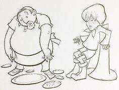 "Ink Illustration by Mark Wayne Adams: Original Artwork ""Baker's Spilled Cookies"" #365ArtAuction"