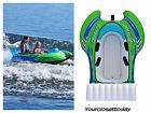 2 Person Sit In Towable Boat Cockpit Tube Inflatable Float Water Raft Tubing Ski