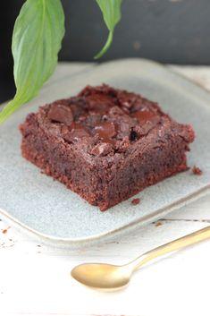 BROWNIE (sans sucre, vegan, sans farine) – LLG Brownie Fondant, Healthy Cooking, Vegan, Sweet Tooth, Gluten, Desserts, Recipes, Food, Dessert Healthy