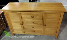 Lightwood Chest  4 Drawers & 2 Doors