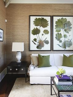 pops of green // living room by Urban Grace Designs