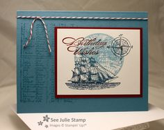 See Julie Stamp - Julie Wadlinger, Stampin' Up! Demonstrator : The Open Sea - My Shoe Box Swap Convention 2013
