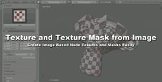 Blender Addon List: Addon: Texture and Mask from Image Blender Addons, Blender Tutorial, Blender 3d, New Energy, Create Image, All Video, Motion Design, Texture, Script