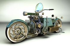 steampunk vehicles | Steampunk bike