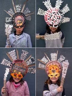 tribal masks with paper plates