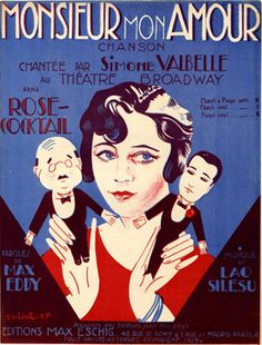 Monsieur mon Amour, in: Rose-Cocktail / Lao Silesu  Eschig & Cie, Editeurs (Rue de Rome, 48 - Paris), 1929