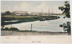 TILSIT+1903+BLICK AUF DIE EISENBAHNBRÜCKE+Sowetsk+Tilžė+KÖNIGSBERG