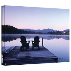 Found it at Wayfair.ca - 'Mirror Lake, Lake Placid' by Linda Parker Photographic Print on Canvas