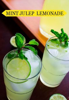 Refreshing and easy to sip, this Mint Julep Lemonade is a summertime cocktail your guests are sure to rave about.