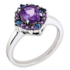- Material: Sterling Silver - Stones: Genuine Amethyst & Tanzanite Width of Band: 2 mm Item Weight: gm Stone Type: Amethyst Stone Creation Method:Natural Stone Treatment:Heating Stone Shape:O Tanzanite Jewelry, Tanzanite Ring, Amethyst Jewelry, Sterling Silver Jewelry, Amethyst Stone, Birthstone Jewelry, Silver Ring, Purple Jewelry, Purple Accessories