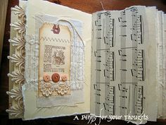 A Penny for your Thoughts: My fabric covered altered journal