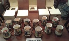 ~~ROYAL DOULTON 100%COMPLETE SET CHARLES DICKENS CHRISTMAS TANKARDS MINT 7BOXES~