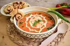 supa-crema-de-rosii-cu-dovlecel-4 Supe, Thai Red Curry, Ethnic Recipes, Food, Eten, Meals, Diet