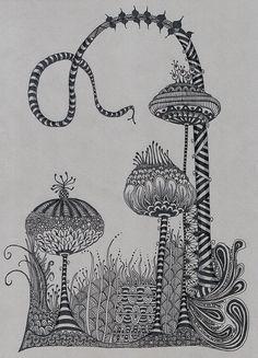Zentangle Inspired Garden
