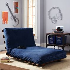 Boys room idea with simple futon