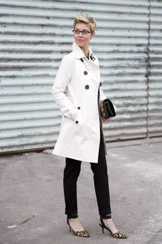 DB Trench Open with Ankle Pants and Ankle Straps.