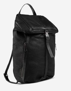 Y-3 Online Store -, Y-3 Toile Lthr Backpack