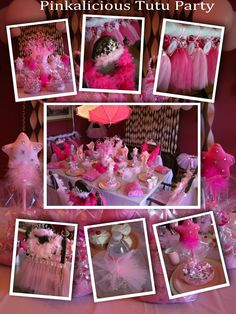 Princess Party Ideas. Free Guests! Shop for this Pinkalicious Party at www.myprincesspartytogo.com #princesspartyideas #princessparty #pink #tutu #princess party