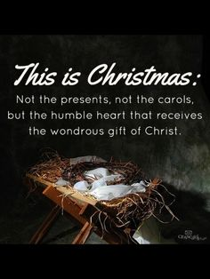 This is the gift. The ultimate gift of love. The reason for the season.