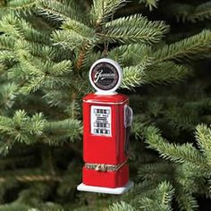 Gas Pump Opening Ornament