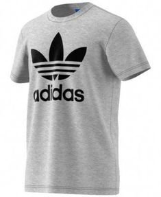 3dd60758bf16b T-Shirts Adidas Originals Trefoil Graphic Men s T-Shirt Grey Black. fashion  Suit Design