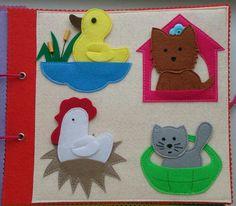 الحيوانات و بيوتها  Quiet book page