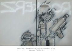 """Rockers"" 160X240 cm oil on canvas"