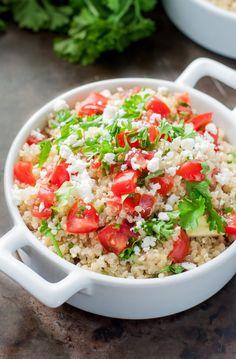 Healthy Tomato Avocado Quinoa Salad with Feta